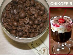Театральный коктейль кофе, вишня в шоколаде кофе