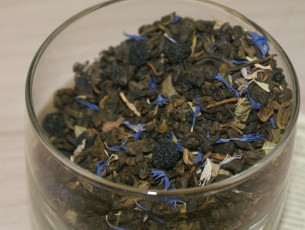 Чай зеленый с черникой