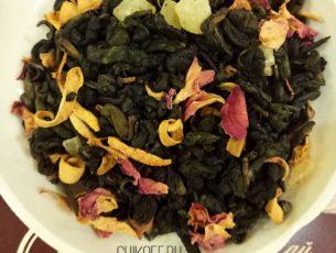 Чай с манго, зеленый чай с манго