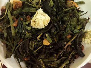 Чай Улыбка Гейши, чай с персиком
