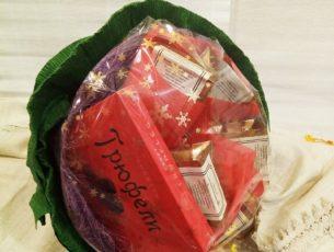 Букет с шоколадными конфетами и чаем