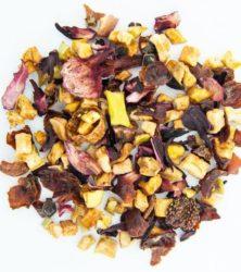 Клубничный зефир чай